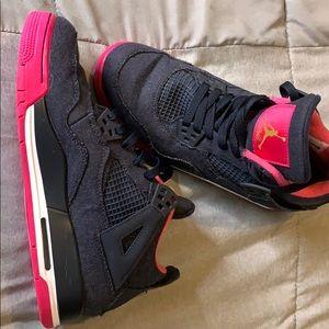 Pink denim blue and white air Jordan's